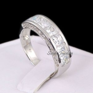 Real 925 Mens Wedding Band Ring